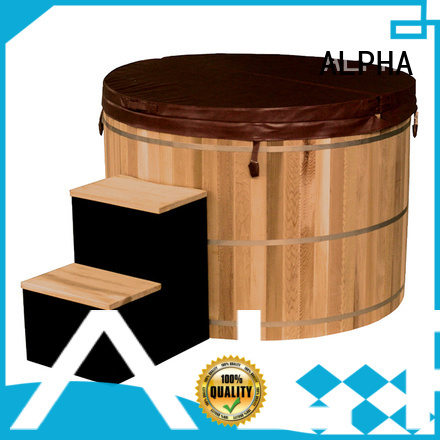 heater tub ALPHA Brand cedar hot tub factory