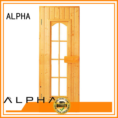 frame Custom aluminiumtempered cedar sauna door ALPHA glass