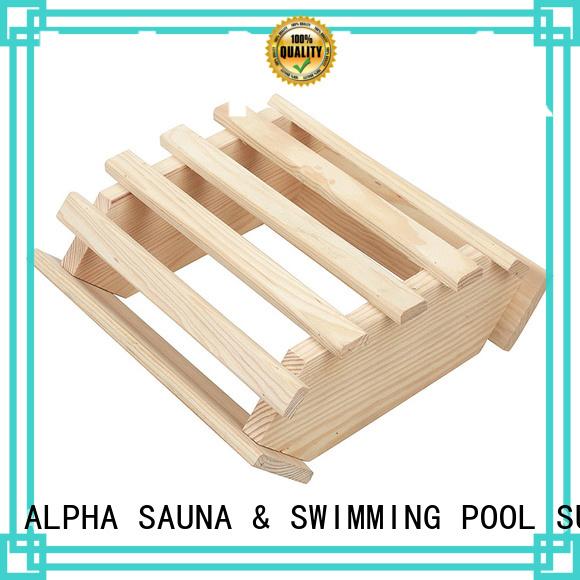 corner are solid ALPHA Brand sauna room accessories factory