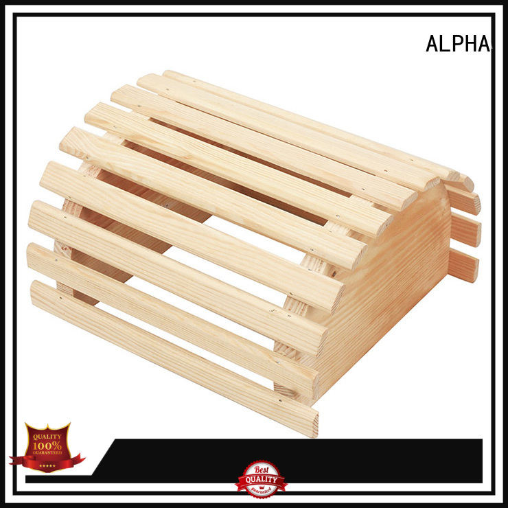 sauna room accessories solid white wooden lampshade ALPHA Brand