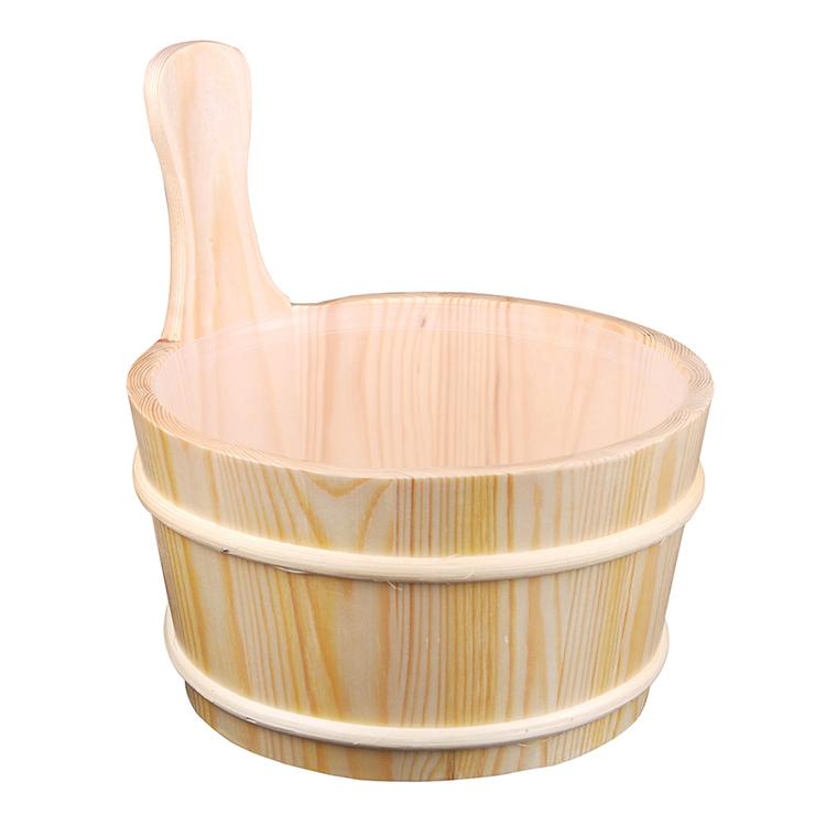 Sauna bucket and ladle for Dry sauna rooms Accessories 4L Aspen/Red Cedar/Spruce