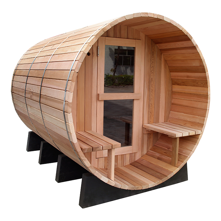 Outdoor Barrel Sauna WET/DRY SPA 6 Person Size-Outdoor NEW 8' Ft Canadian Red Cedar