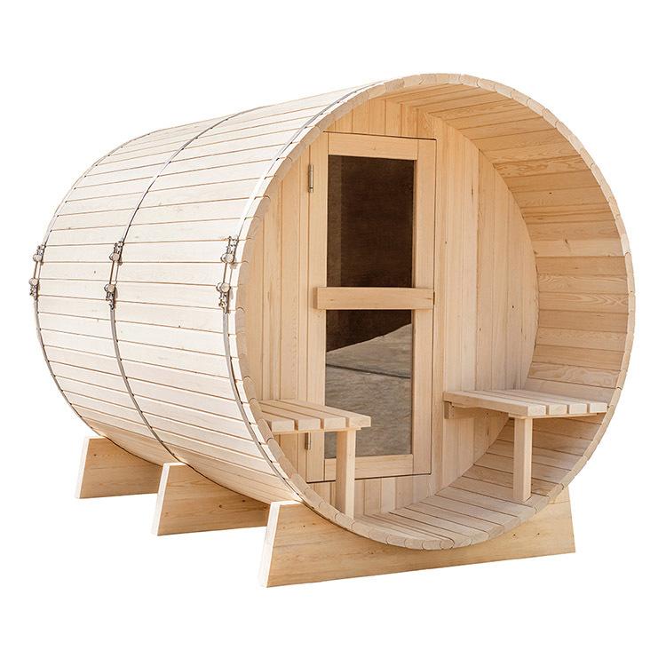 Infrared outdoor barrel sauna room Hemlock