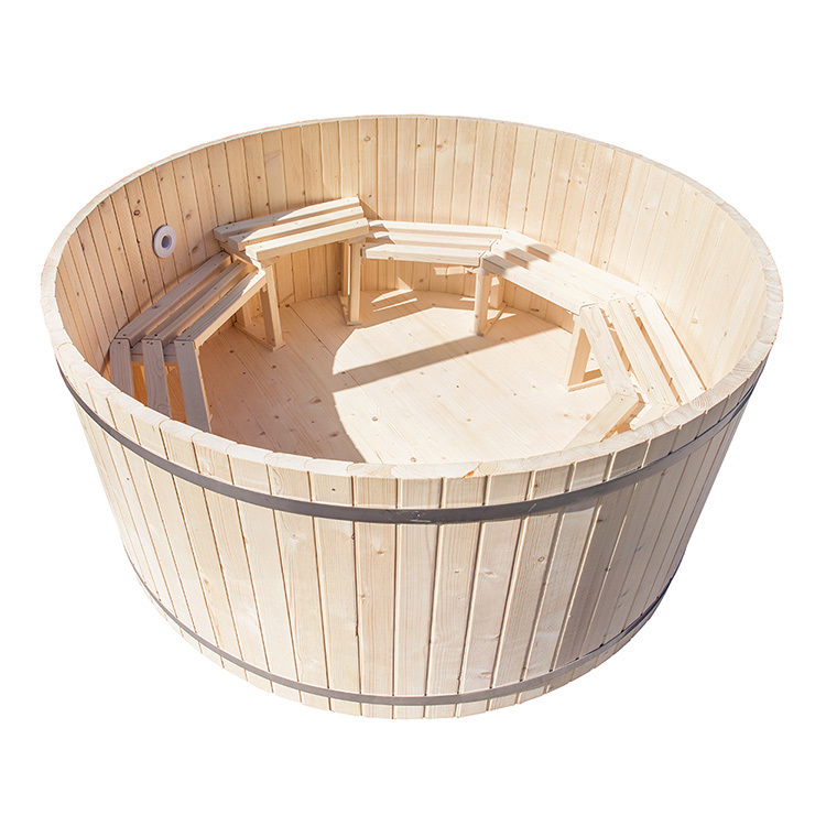 Strenth Construction Wood Fired Hot Tub Heater - Wood Fired Pool Heater For Outdoor Wooden Tub