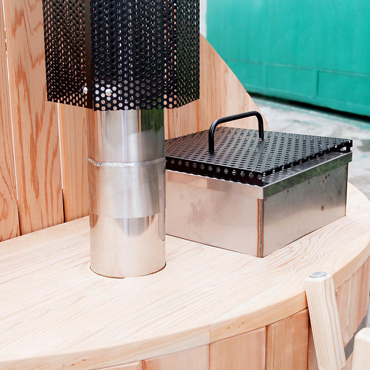 Internal(OUTSIDE) HEATER- Europe Quality Stainless Steel STOVE wood fired For Wooden Hot Tub
