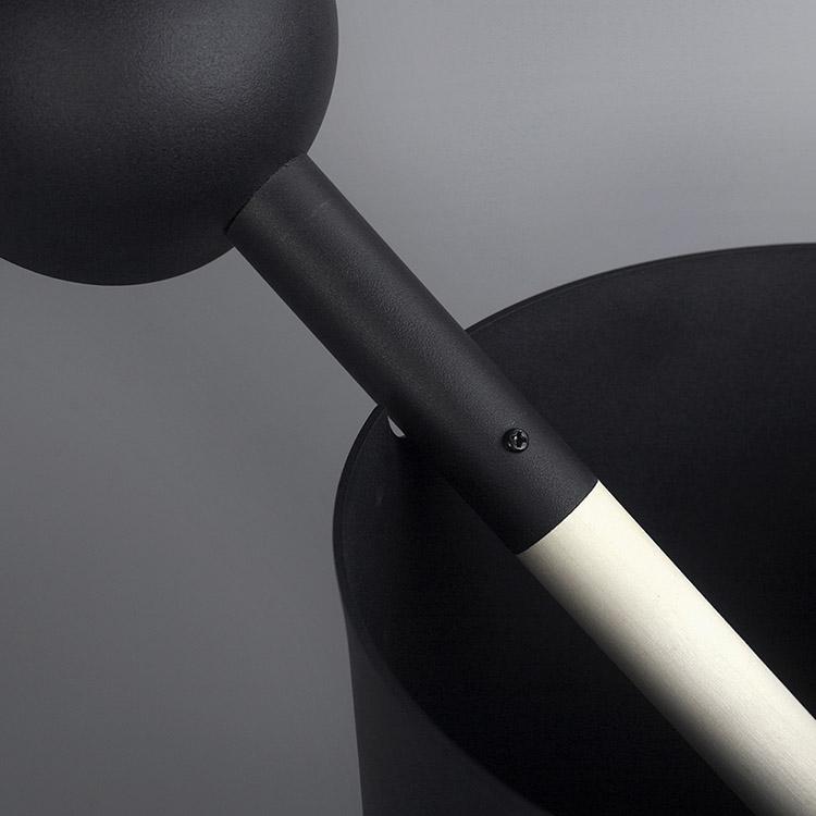 Aluminium Sauna Bucket & Ladle With Aspen Handle Set. 5L Aluminium Black/White