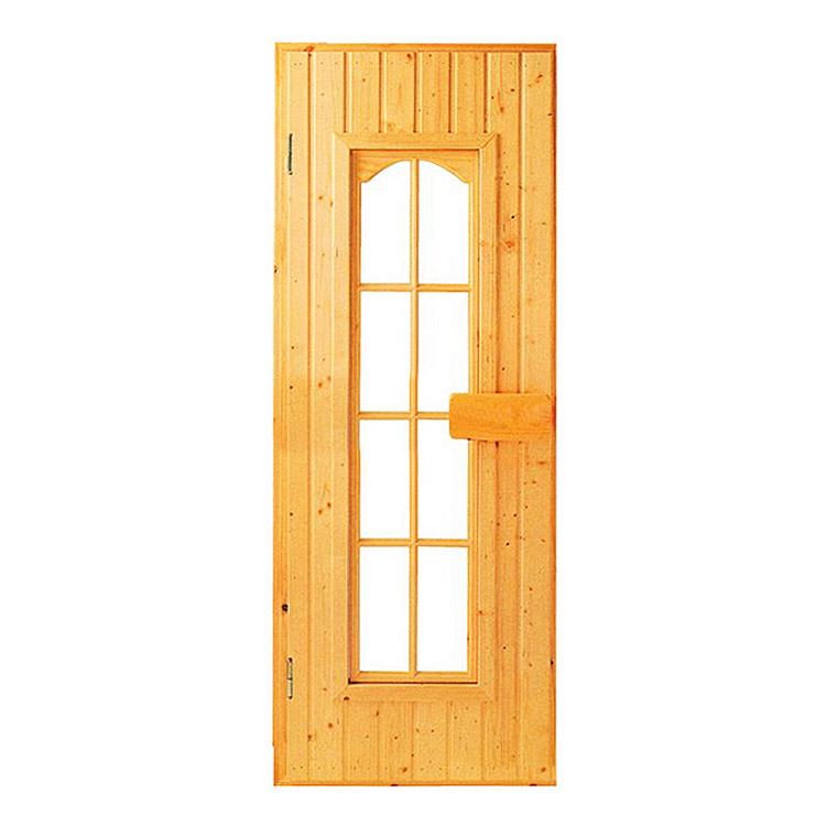 Sauna Glass Door Finnish Spruce Pine For Traditional Sauna Room    1800*600*50MM
