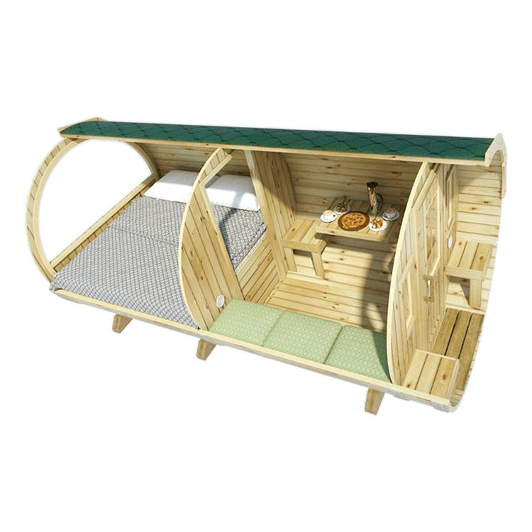 Sleeping Barrel House  Ø2.2 X 4.4 Family Size, Outdoor Garden Use Alphasauna
