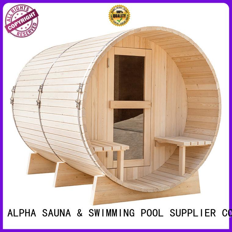 electrical barrel sauna outdoor outside sauna ALPHA Brand