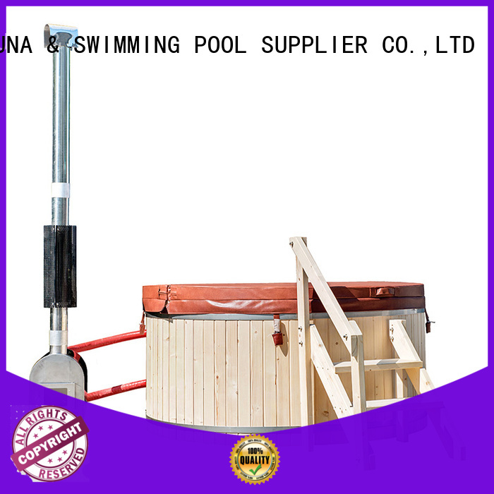 ALPHA Brand stainless wood glass person wood burning hot tub