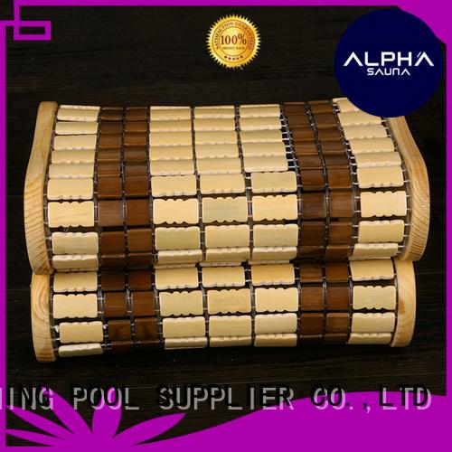 sauna headrest frame bamboo headrest ALPHA Brand sauna accessories