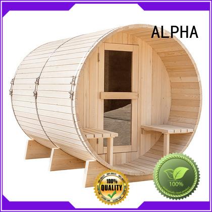hemlock Custom person outdoor sauna pine ALPHA