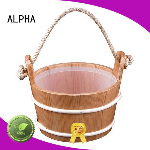 aspenred wooden sauna bucket pine ALPHA company