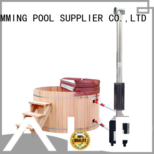 outdoor wooden hot tub wood come heater ALPHA Brand wood burning hot tub