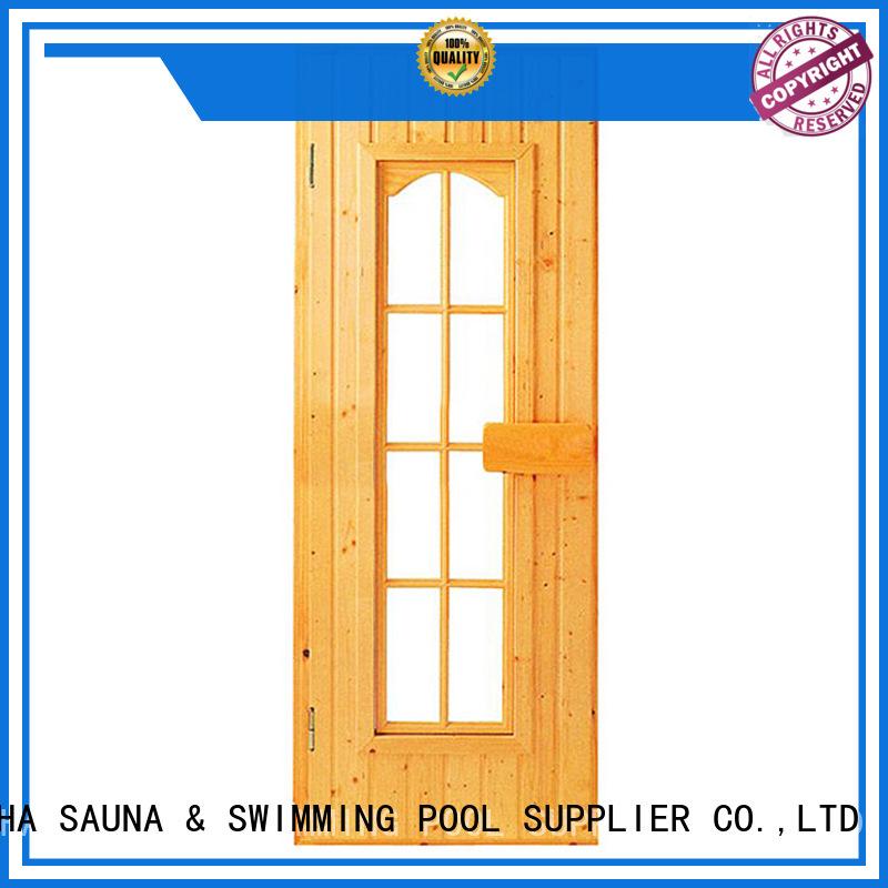 Quality ALPHA Brand toughened sauna door