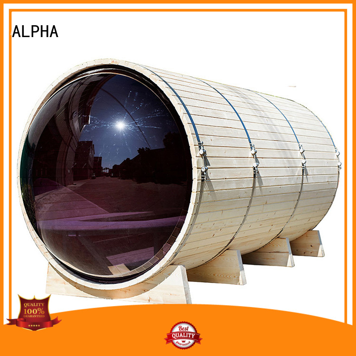 ALPHA Brand person porch cecertified panoramic sauna manufacture