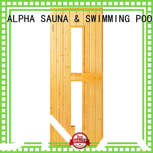 ALPHA Brand red western sauna wood door window supplier