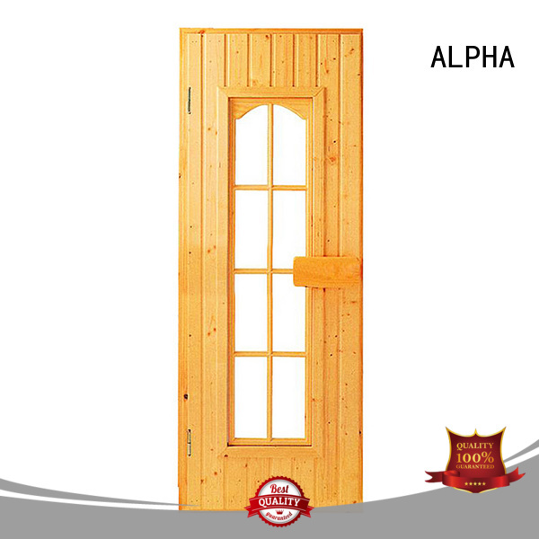 door reversible sauna wood door ALPHA Brand