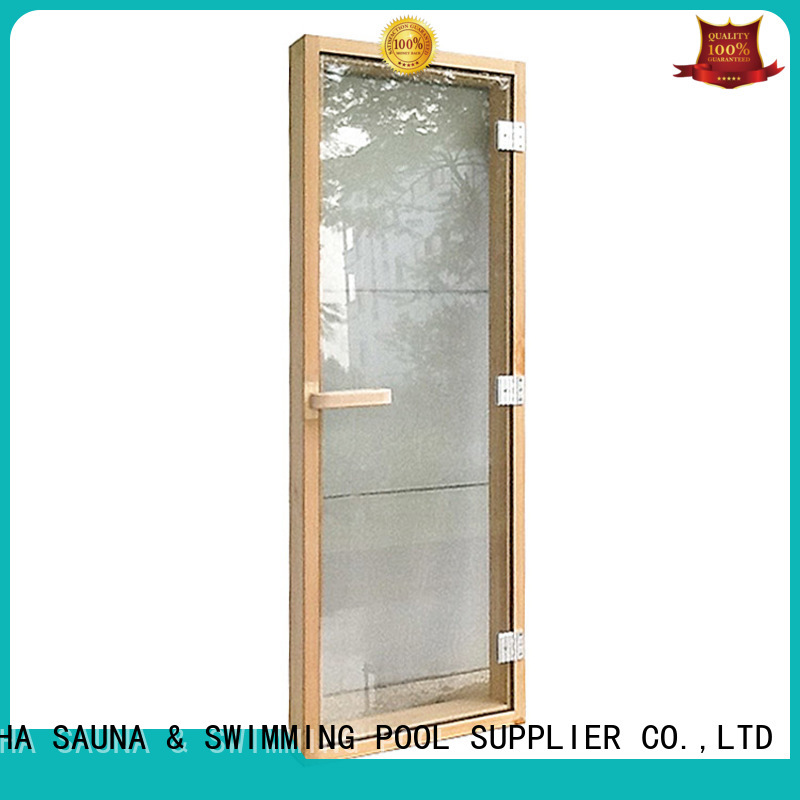 hinges glass reversible size ALPHA Brand sauna door supplier