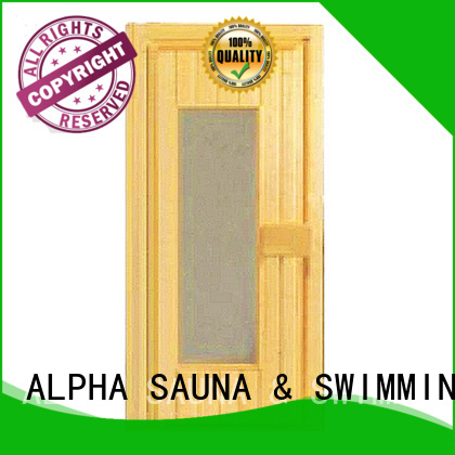 ALPHA Brand aluminiumtempered sauna sauna wood door