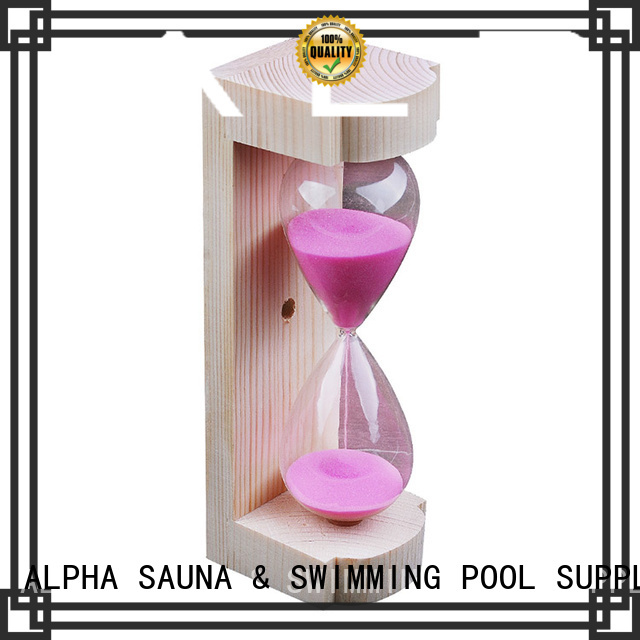 Custom minutes free hourglass sand timer ALPHA red