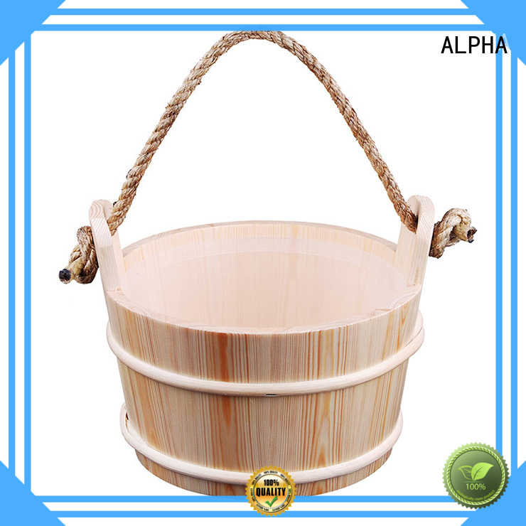 Hot wooden sauna bucket alphasauna ALPHA Brand