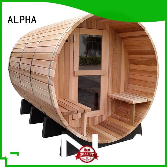 Wholesale dial cedar sauna thermometer ALPHA Brand