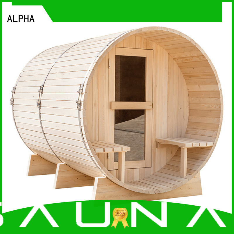 ALPHA Brand round electrical outside sauna room