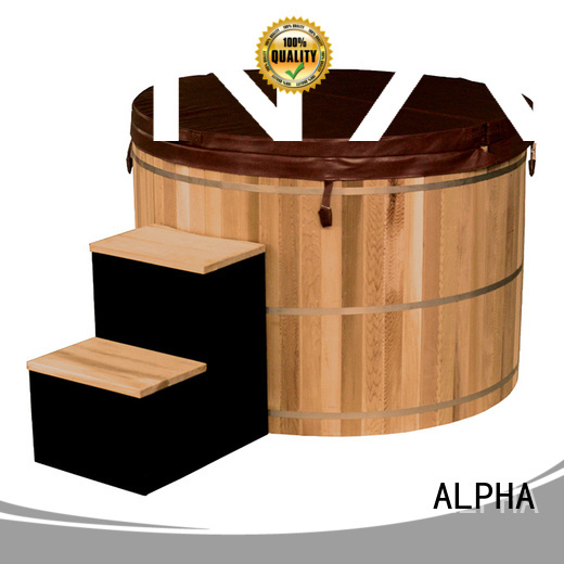 ALPHA Brand filtration tub cedarspruce electrical small hot tubs