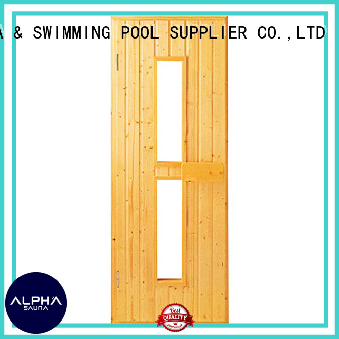 Quality ALPHA Brand hinges sauna door
