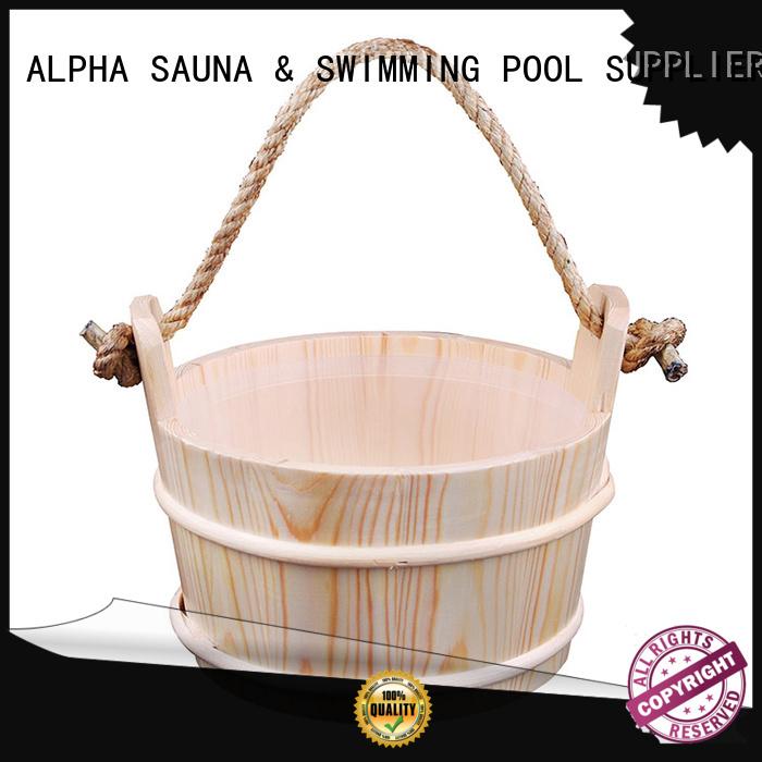 accessories insert ALPHA Brand wooden bucket