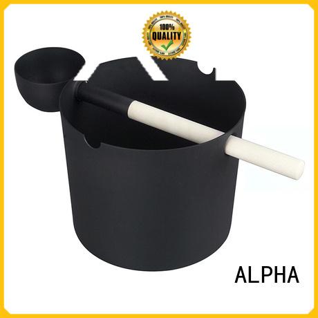 aspenred wooden bucket plasticliner including ALPHA company