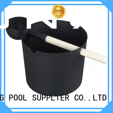 wooden sauna bucket accessories dry ladle wooden bucket manufacture