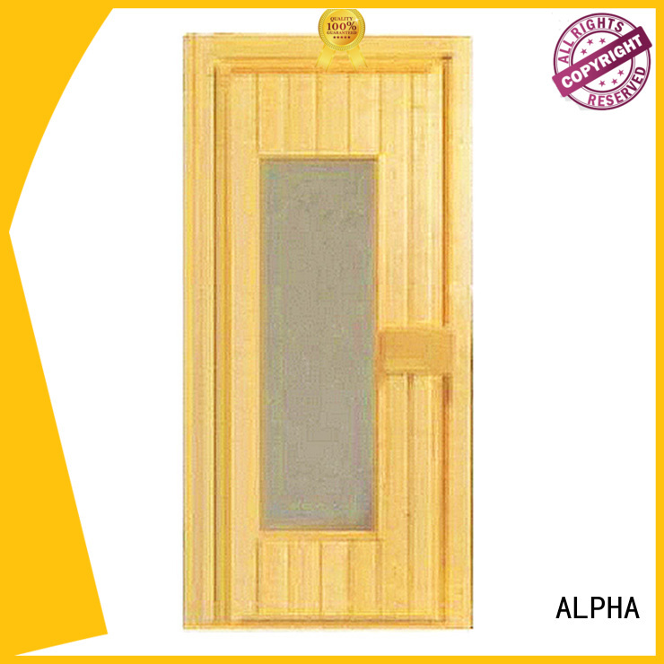 solid size sauna door ALPHA Brand