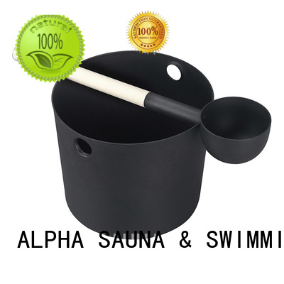 ALPHA Brand pail including wooden bucket manufacture