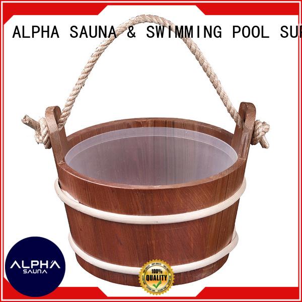 wooden blackwhite wooden bucket aspen handle ALPHA company