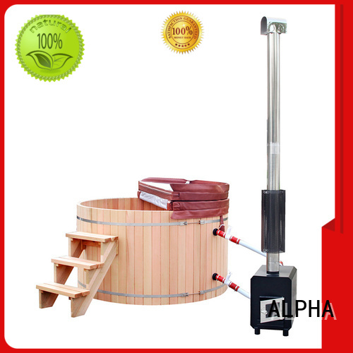 Wholesale external wood burning hot tub ALPHA Brand