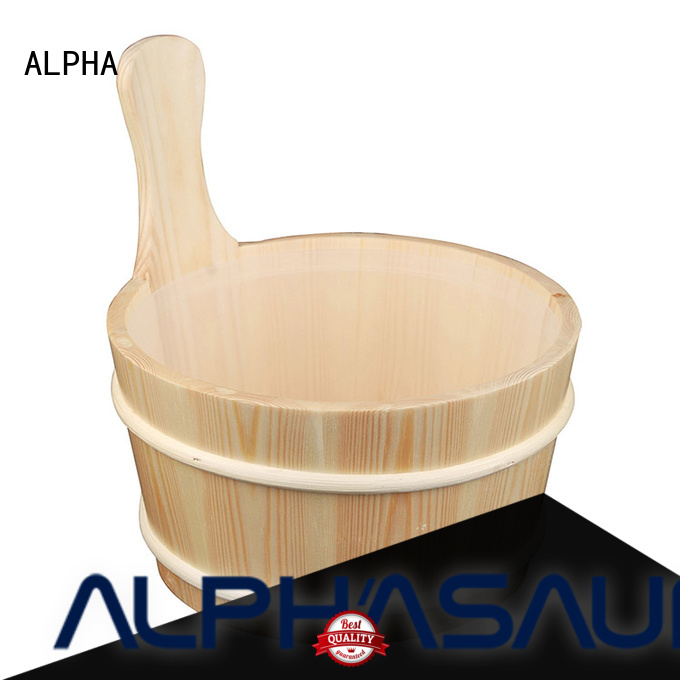 Hot wooden bucket 4l ALPHA Brand