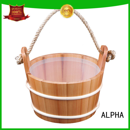 Wholesale sprucered wooden sauna bucket ALPHA Brand