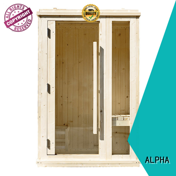 ALPHA Brand solid silo indoor sauna for sale wall