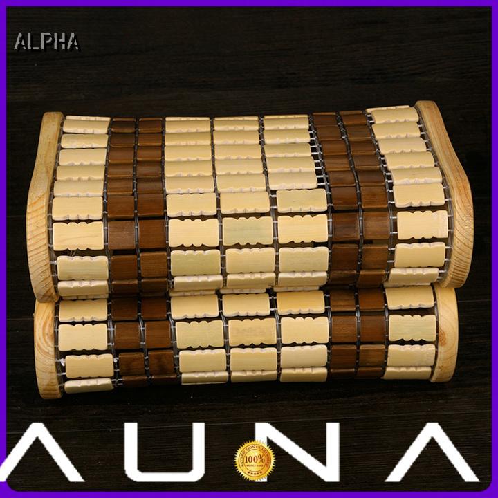 spruce bamboo wooden sauna headrest ALPHA manufacture