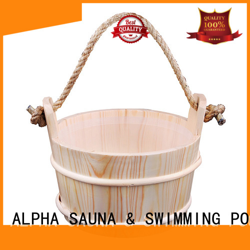 Hot aspen wooden sauna bucket accessories ALPHA Brand