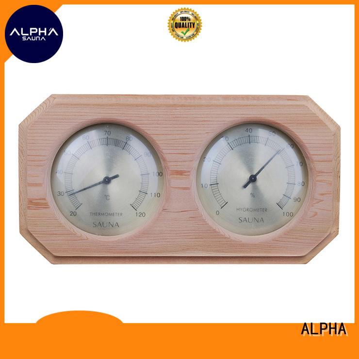thermometer sauna alphasauna pine hygrometer ALPHA Brand company