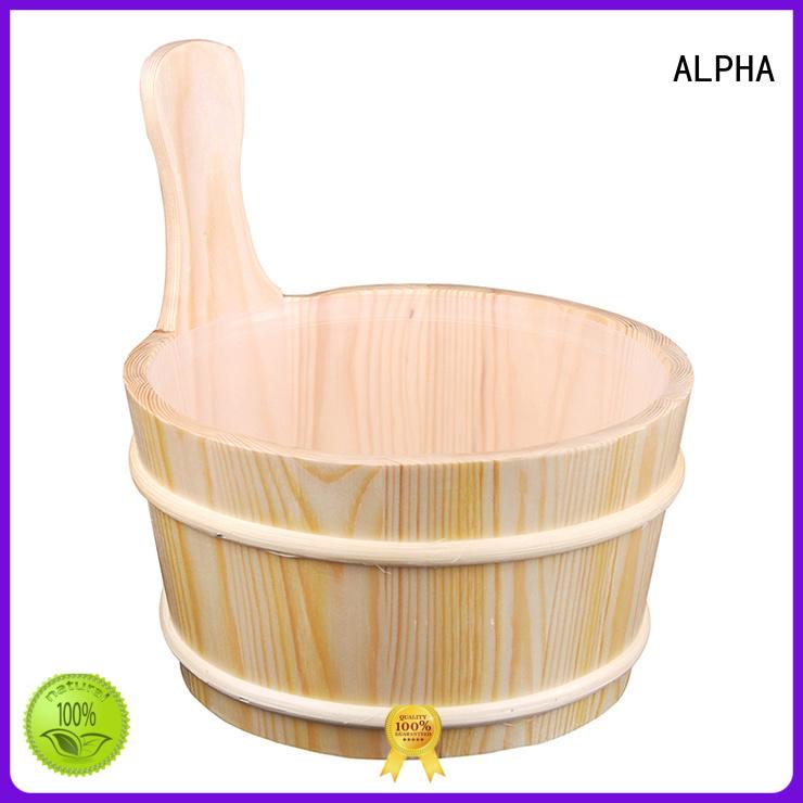 ALPHA Brand spruceaspen bamboo wooden sauna bucket