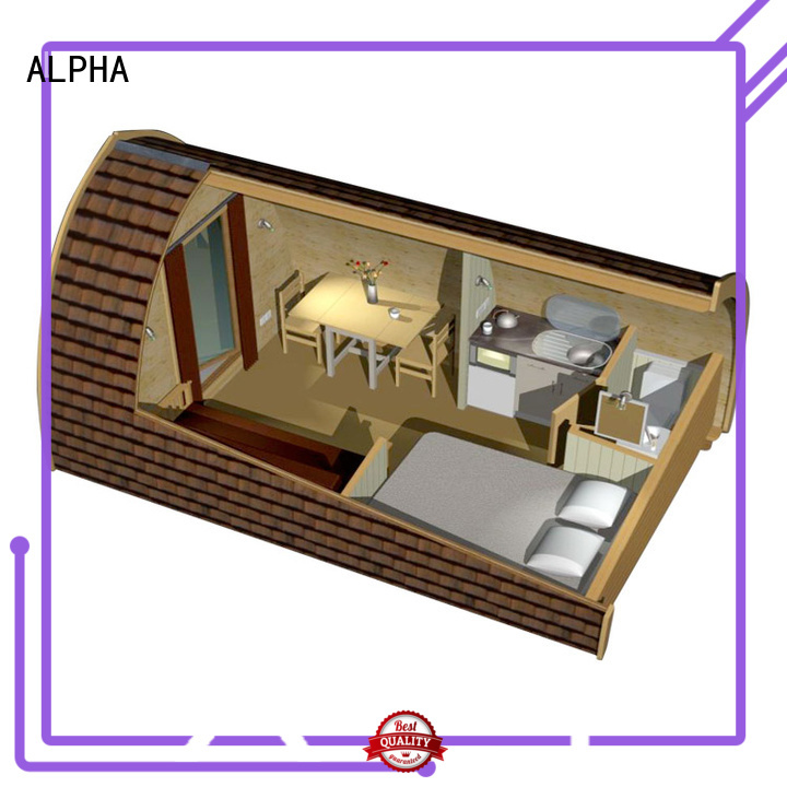wooden outdoor size sleeping camping houses for sale ALPHA Brand