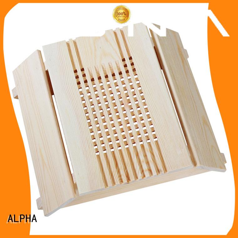 ALPHA Brand sauna spruceaspenred solid spruce wooden lampshade