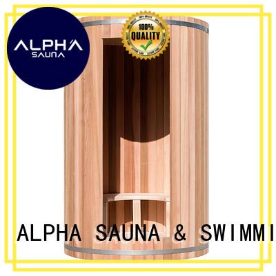 barrel clear cedar sauna indoor sauna for sale ALPHA Brand