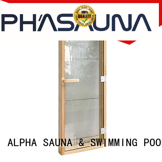 spruce reversible sauna wood door ALPHA manufacture