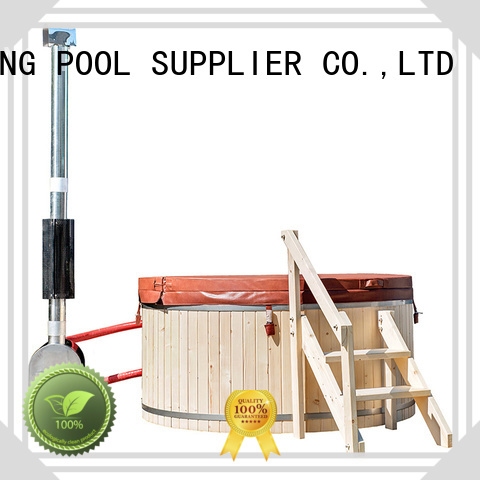 ALPHA Brand cedar external construction wood wood burning hot tub