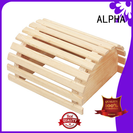 customized solid accessories wooden lampshade ALPHA Brand company